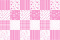 Abstract background with patchwork motives retro page layout pink Royalty Free Stock Photography