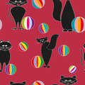Abstract background pattern cat balls Stock Photo