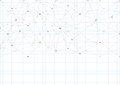 Abstract background with a pattern of lines and dots. A sheet of school notebooks. White sheet of paper.