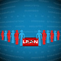 stock image of  Abstract background with people manifested against lean strategy