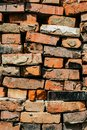 Piled old red bricks Royalty Free Stock Photo