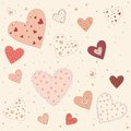 Abstract background of pink hearts illustration with love theme Royalty Free Stock Photo