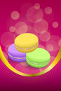 Abstract background pink macaroon yellow violet purple green vertical frame illustration Royalty Free Stock Photo