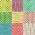 Abstract background the polka dot seamless pattern Stock Photo