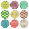 Abstract background the polka dot seamless pattern Royalty Free Stock Photo