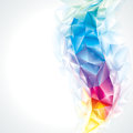 Abstract background polygonal crystal colors Royalty Free Stock Photos