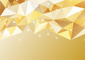Abstract background in the polygonal style. Shades of gold. Metallic effect. Luxury and wealth.