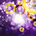Abstract background purple shine with bokeh Stock Images