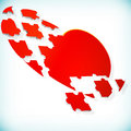 Abstract background with puzzle heart. Royalty Free Stock Images