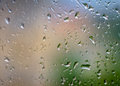 Abstract background with raindrops on glass. Royalty Free Stock Photo