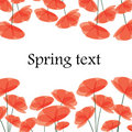Abstract background with red flowers Royalty Free Stock Photo