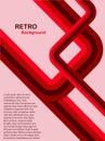 Abstract background red retro Στοκ Φωτογραφίες