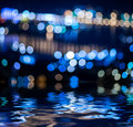 Abstract background reflected in water, Royalty Free Stock Photo