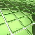 Abstract background with reflecting green squares Royalty Free Stock Image