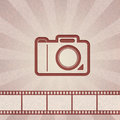 Abstract background. Retro camera Royalty Free Stock Photo