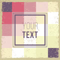 Abstract Background retro mosaic brochure or banner. Vintage creative cards. Hipster textures. Retro patterns for