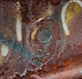 Abstract background rust, peeling paint & grafetti & number 9 Royalty Free Stock Photo