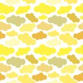 Abstract background. Seamless vector pattern. Yellow shades clouds on a transparent background