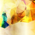 Abstract background with shining yellow triangles Royalty Free Stock Image
