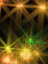 Abstract background with a shone Yellow star Stock Image