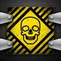 Abstract background with skull. Stock Image