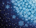 Abstract background with snowflakes Stock Photo