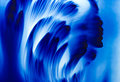 Abstract background soft and blur concept blue Stock Images