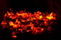 Abstract background of soft focus burning coals Royalty Free Stock Photo