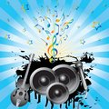Abstract background with speakers, a gui Royalty Free Stock Photography