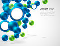 Abstract background with spheres Royalty Free Stock Photo