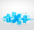 Abstract background with square shapes vector illustration Royalty Free Stock Image