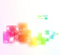 Abstract background with square shapes vector illustration Stock Images