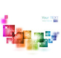 Abstract background with square shapes vector illustration Stock Photography