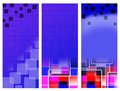 Blue banners squares Royalty Free Stock Photo