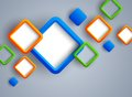 Abstract background with squares bright illustration Stock Photo