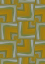 Abstract background of squares and diamonds strokes yellow and green Royalty Free Stock Photo