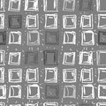 Abstract background of squares rectangular seamless pattern in shades grey geometric shapes hand drawing retro fabric Royalty Free Stock Images