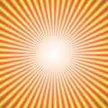Abstract background of star burst rays orange Stock Image