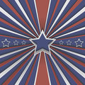 Abstract background with stars and red and white stripes on blue Royalty Free Stock Photo