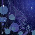 Abstract background with stars and waves Royalty Free Stock Images