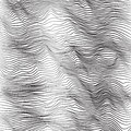 Abstract background - striped waves. Black and white