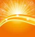 Abstract background with sun light rays Royalty Free Stock Photo