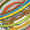 Abstract background, swirling lines, colorful vector Royalty Free Stock Photo