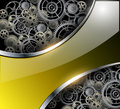 Abstract background with technology metal gears and cogwheels vector Stock Images