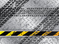 Abstract background with tire tracks metallic plate Stock Photography