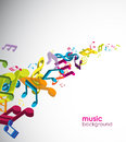 Abstract background with tunes vector art Royalty Free Stock Images