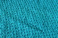 Abstract background turquoise blue texture made by embroidered wool Stock Image