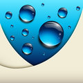 Abstract background with vector blue water drops Royalty Free Stock Photography