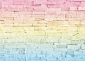 Abstract background wall is out of focus blur made with pastel color filter