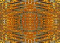 MESH WAVE PATTERN IN ORANGE AND YELLOW